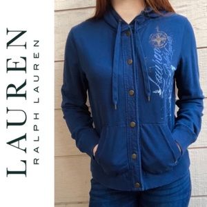 Lauren Ralph Lauren Nautical Blue Hoodie